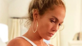 J.Lo Looks Impossibly Stunning In a One-Piece White Swimsuit