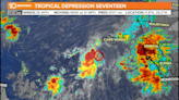 NHC: Tropical Depression 17 forms over the far eastern tropical Atlantic