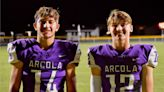 Watch now: From trampolines to Friday nights, Arcola's senior-freshman duo shines through the air