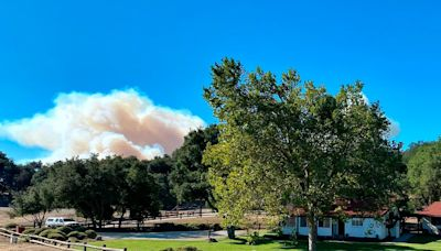 Wildfire closes in on Ronald Reagan's Western White House