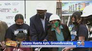 Civil Rights Pioneer Dolores Huerta Breaks Ground On Namesake Apartments