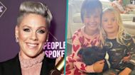 Pink's Kids Willow & Jameson Cuddle With New Rescue Dog Habañero: 'Our Newest Family Member'