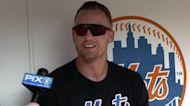 Brandon Nimmo on robbing 1st HR, hitting better vs lefties   Mets Pre Game