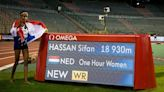 Mo Farah, Sifan Hassan break world records for farthest run in one hour