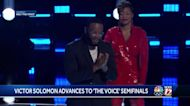 North Carolina A&T senior Victor Solomon receives team's most votes, advances to semifinals on 'The Voice'
