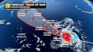 Hurricane Sam further intensifies, packing dangerous wind speeds