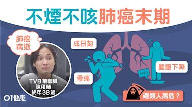 陳積榮肺癌病逝|不煙不酒患肺癌末期 肺癌9大警號頸腫腰背痛
