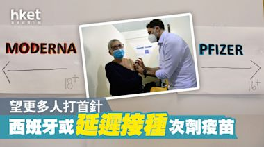 【新冠疫苗】西班牙或延遲接種次劑 望更多人打首針 - 香港經濟日報 - 即時新聞頻道 - 國際形勢 - 環球社會熱點