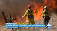 Firefighters light back fire to protect Chino Hills from Blue Ridge Fire
