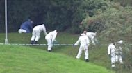Forensics scour scene of shooting in England