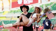 Hunter Woodhall and Tara Davis met at a track meet four years ago. Now, the power couple is going for gold in Tokyo.