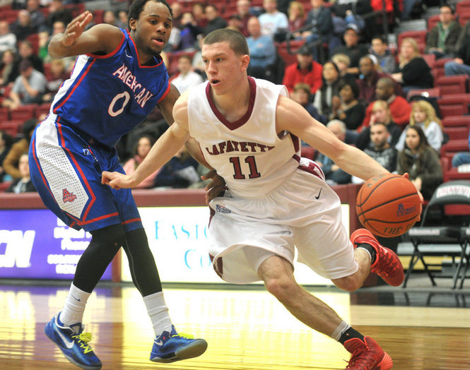 Lafayette men's basketball team upsets American on Feb. 15, 2014