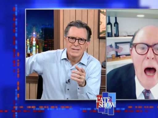 John Lithgow's Rudy Giuliani Has Hair-Leaking Meltdown on 'Colbert'
