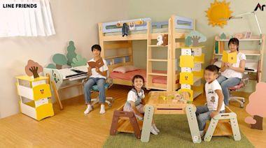亞梭傢俬與LINE打造療癒兒童房