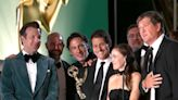 Ted Lasso and 'Our Fearless Leader Jason Sudeikis' Win Emmy for Outstanding Comedy Series