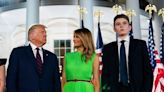 Barron Trump misses out on family's farewell to White House