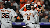 Giants smash 4 home runs in 100th win of the season, 7-2 over Rockies