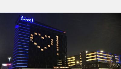 Live! Casino & Hotel Lights Up Property To Support The Front Line