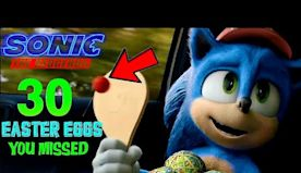 30 EASTER EGGS New Sonic the hedgehog movie trailer 2020