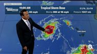 2 tropical storms churning in Atlantic Ocean