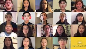 When their high school choir concert was canceled, technology helped them sing anyway