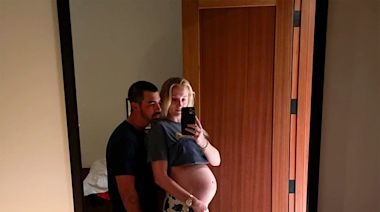 Sophie Turner Shows Off Her Baby Bump in Never-Before-Seen Photo with Joe Jonas from Pregnancy