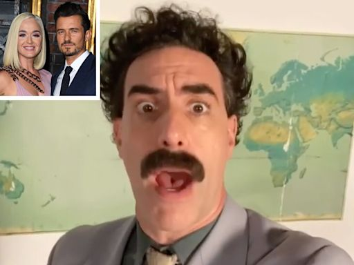Orlando Bloom surprises Katy Perry with NFSW birthday message from Borat