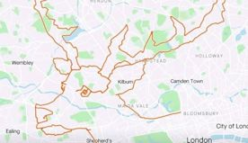 London cyclist draws giant reindeer on 79-mile journey using Strava app