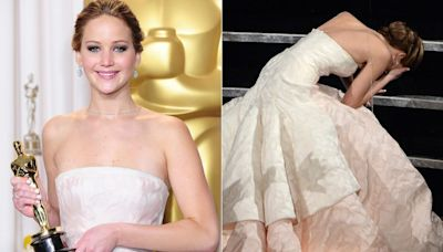 Jennifer Lawrence debunks the myth that she faked her Oscars fall: 'It was this horrific humiliation'