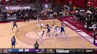 Luka Garza with an and one vs the Los Angeles Lakers