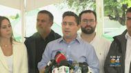 Venezuelan Ambassador Carlos Vecchio Visits Collapsed Condo Site