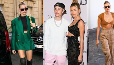 跟著Hailey Bieber穿出修身好比例!「短版針織上衣、寬版西裝外套」等時髦基本款推薦