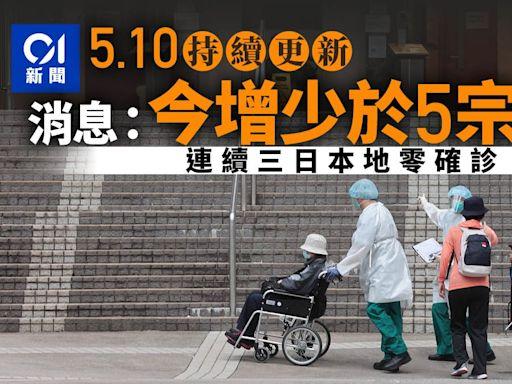 新冠肺炎.最新 消息:今日少於5宗個案 連續三日本地零確診