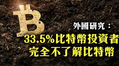 外國研究:33.5%比特幣投資者 不了解比特幣