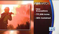Dixie Fire Saturday Night Update