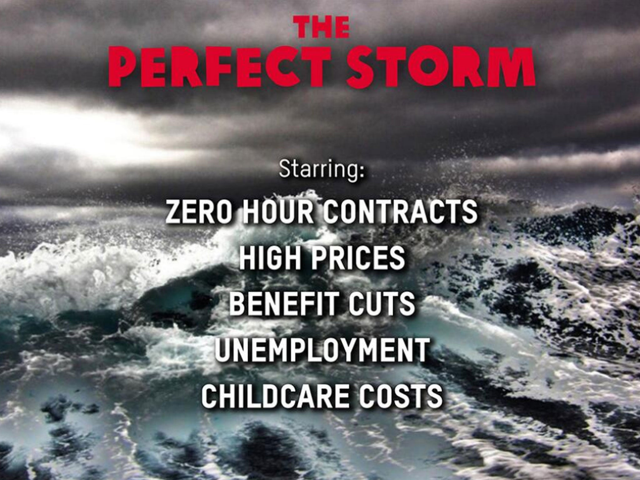 Oxfam 'perfect storm' poster attacked as 'shameful' by Conservative ...