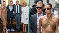 Justin & Hailey Bieber Meet With French President Emmanuel Macron During Paris Trip