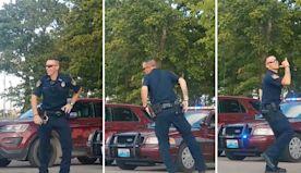 Handsome cop turns up heat with dance challenge