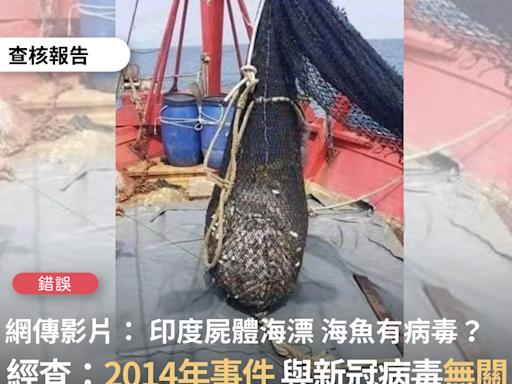 【錯誤】網傳影片宣稱「現在的海魚 盡量不要吃 會有印度病毒」、「最近印度的屍體已經流到馬來西亞這裡了!告訴你身邊的朋友 不要吃海鮮」?