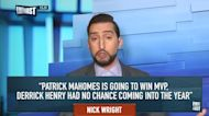 Nick Wright: Patrick Mahomes will have MVP trophy in one hand & Lombardi trophy in other | FIRST THINGS FIRST