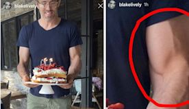 Blake Lively Celebrated Her Birthday By Thirsting Over Ryan Reynold's Bicep On Instagram And It Was Hilarious