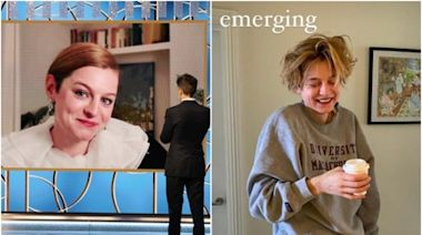 Emma Corrin gives behind-the-scenes look at the morning after her Golden Globes win