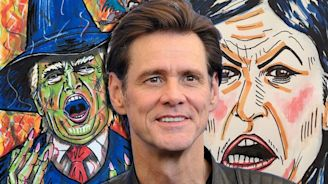 """Jim Carrey calls Trump's birth """"the real State of Emergency"""" in hilariously disturbing political cartoon"""