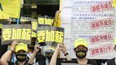 中華電信工會啟動罷工程序首場抗爭(1) (圖)
