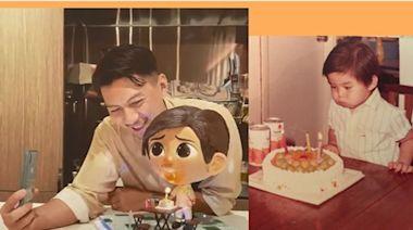 最愛Baby Ben蛋糕 袁偉豪貼兒時吹蠟燭Q照 - 娛樂放題 - 娛樂追擊