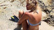 """Alessia Marcuzzi, bagno nell'acqua """"sporca"""": effetto fotografico o colpa dello scirocco?"""