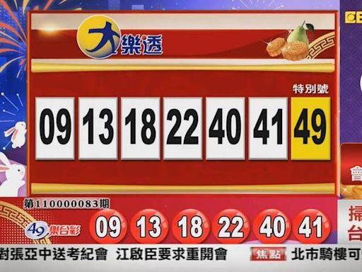 9/14 大樂透、雙贏彩、今彩539 開獎囉!