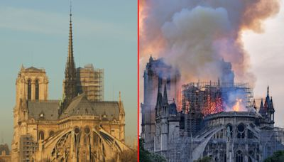 Notre Dame de Paris prima e dopo l'incendio