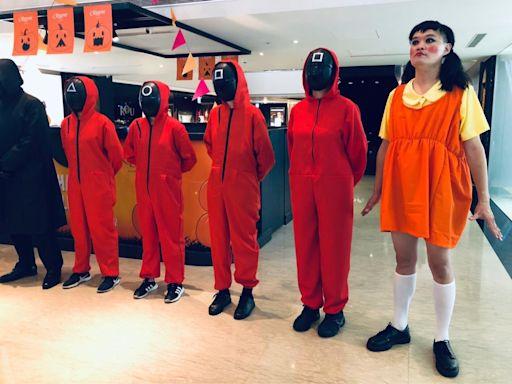 萬聖節玩《魷魚》梗太拚!酒店員工扮大頭娃嚇壞人 網笑:沈文程好犧牲 | 蘋果新聞網 | 蘋果日報