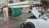 沙田車禍多一名司機被捕 據悉為涉事私家車的前車司機